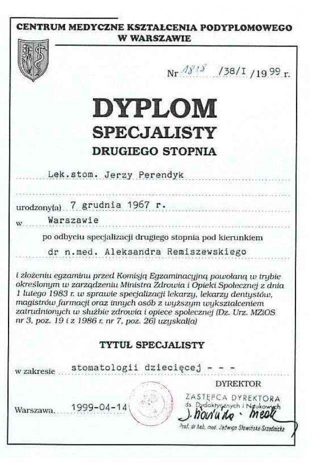 2 stopień specjalizacji