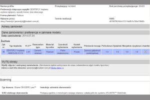 Ryc. 18_Okno dialogowe zamówienia filaru protetycznego.
